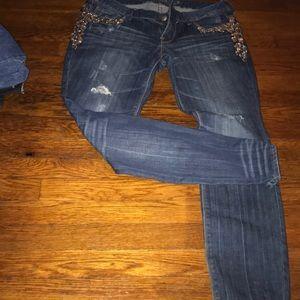Denim - Express embellished jeans